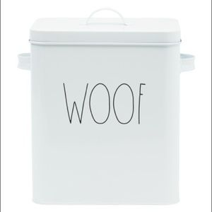 New Rae Dunn WOOF dog Container